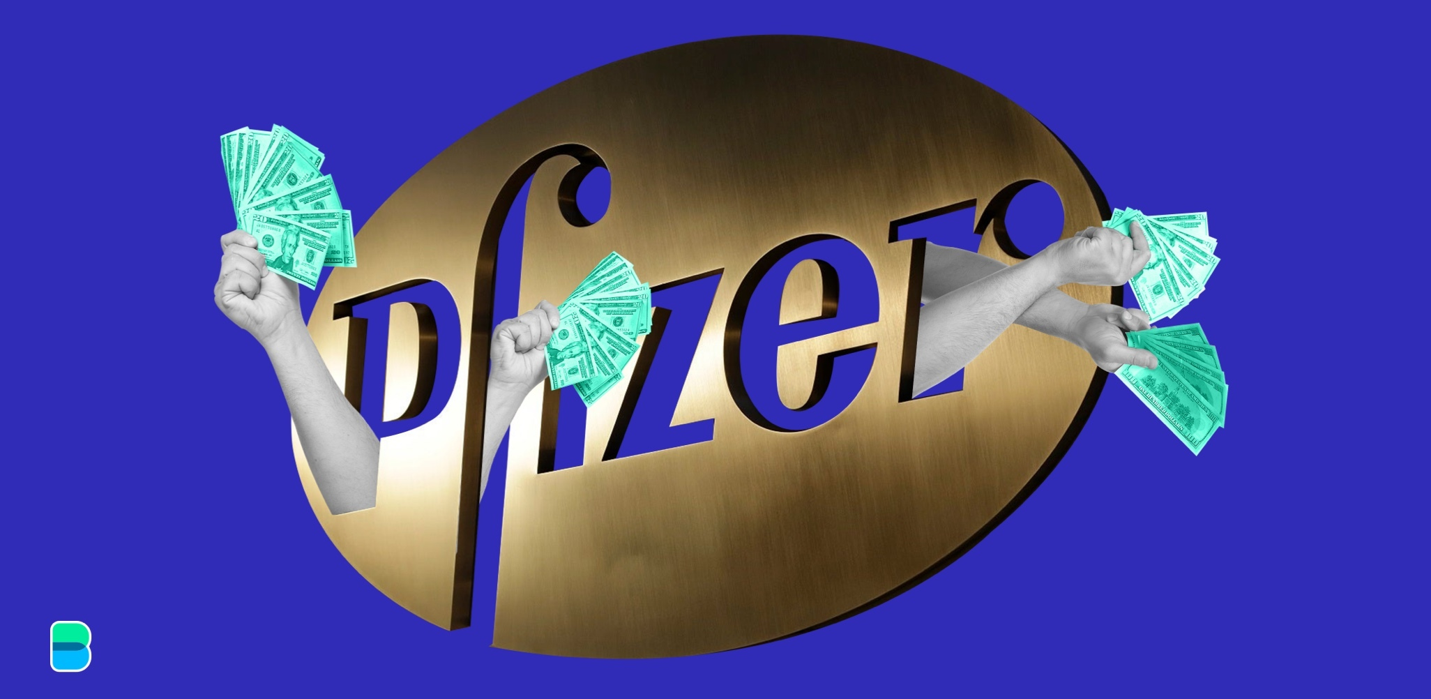Pfizer is also out spending billions